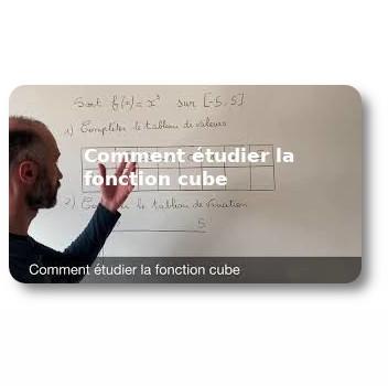 Comment étudier la fonction cube